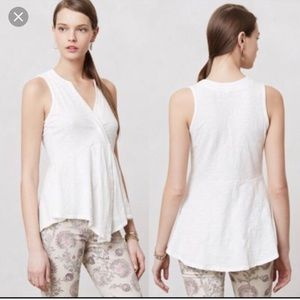 Anthropologie Left of Center split swing tank top